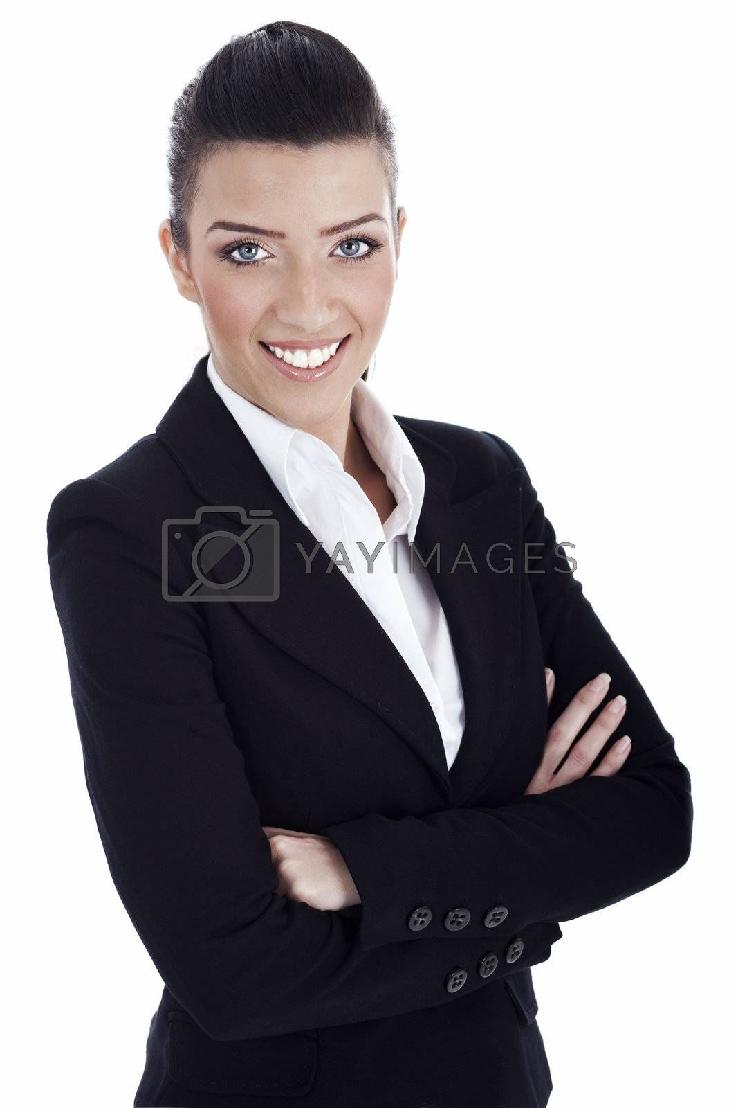 Royalty free image of Closeup smile of young professional by get4net