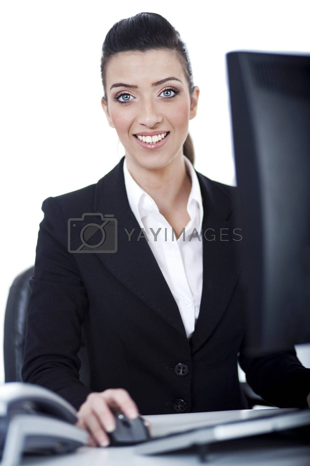 Royalty free image of Business woman working at office by get4net