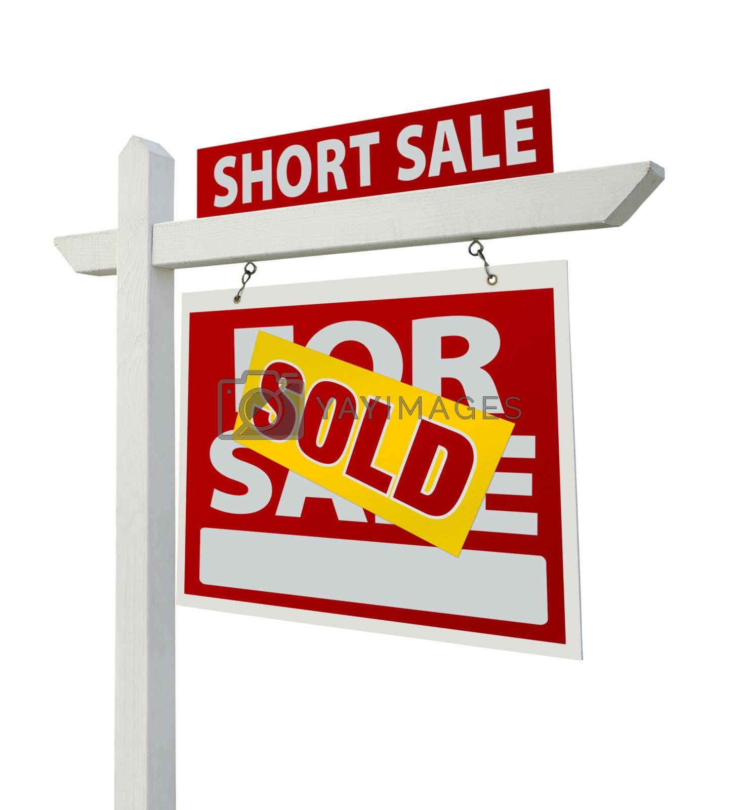 Royalty free image of Sold Short Sale Real Estate Sign Isolated - Right by Feverpitched