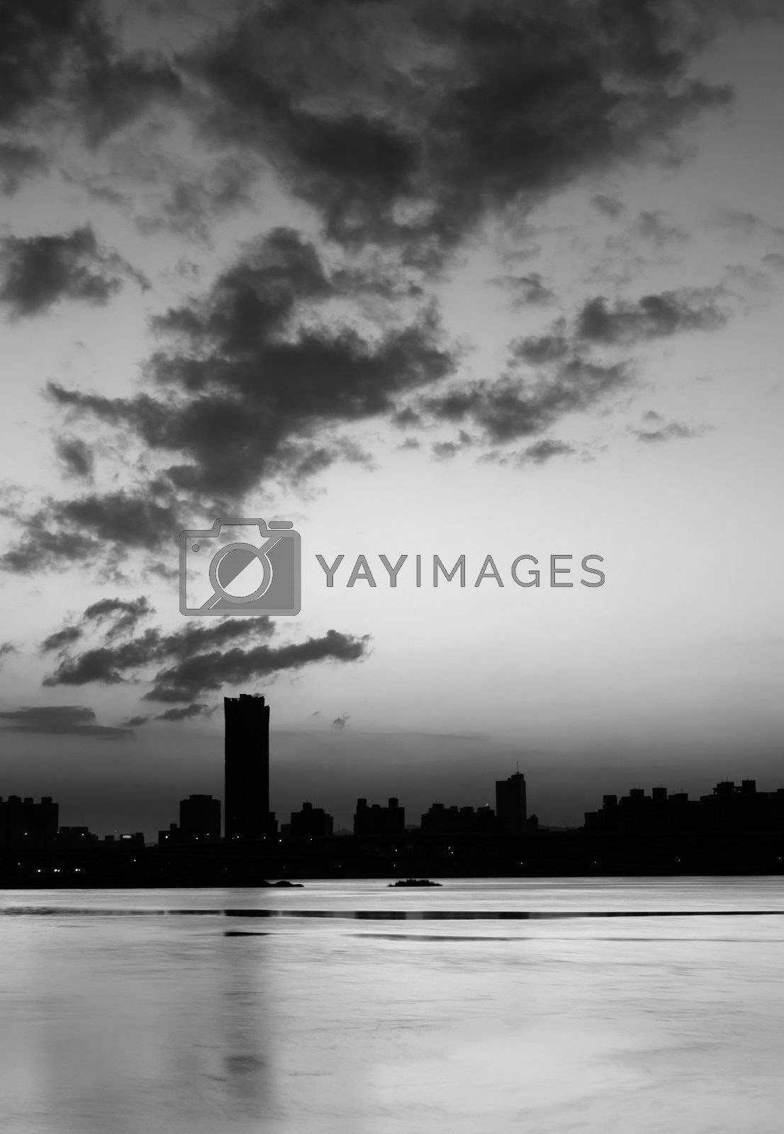 Royalty free image of Building silhouette by elwynn