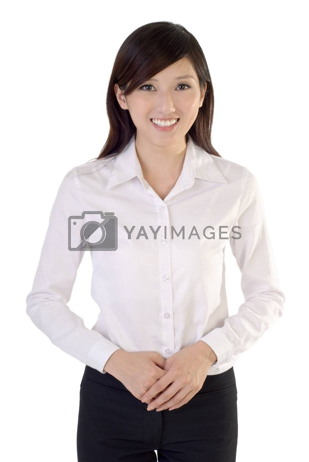 Royalty free image of Friendly young business woman by elwynn