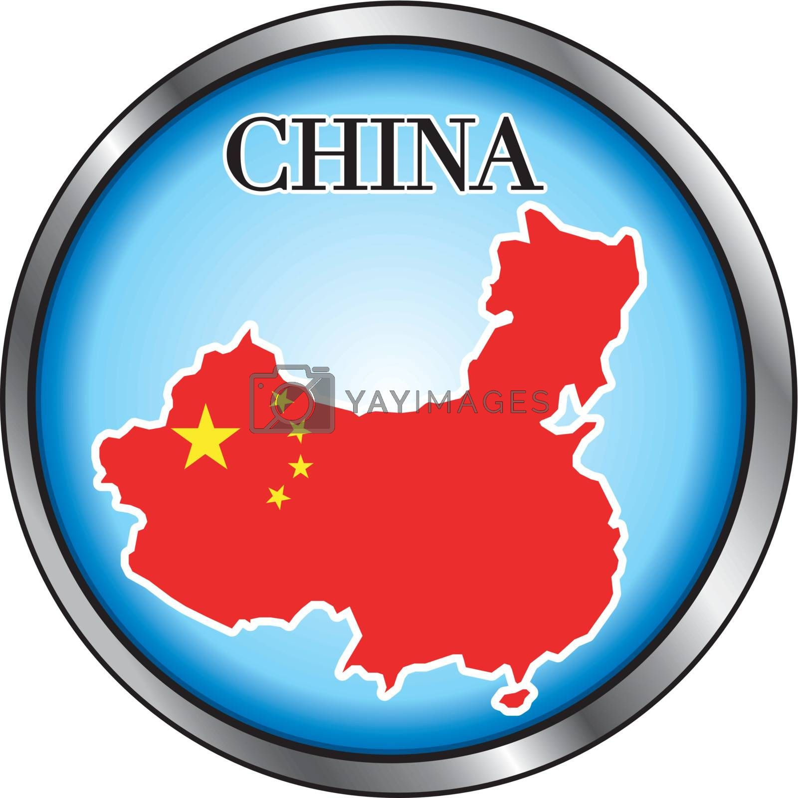 Royalty free image of China Round Button by basheeradesigns