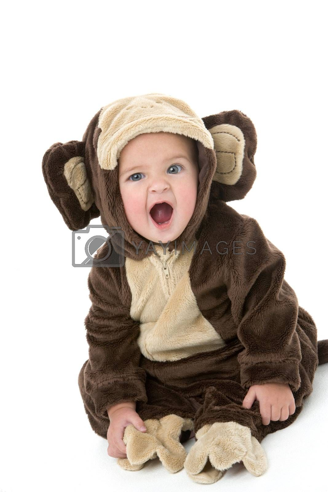 Baby in monkey costume