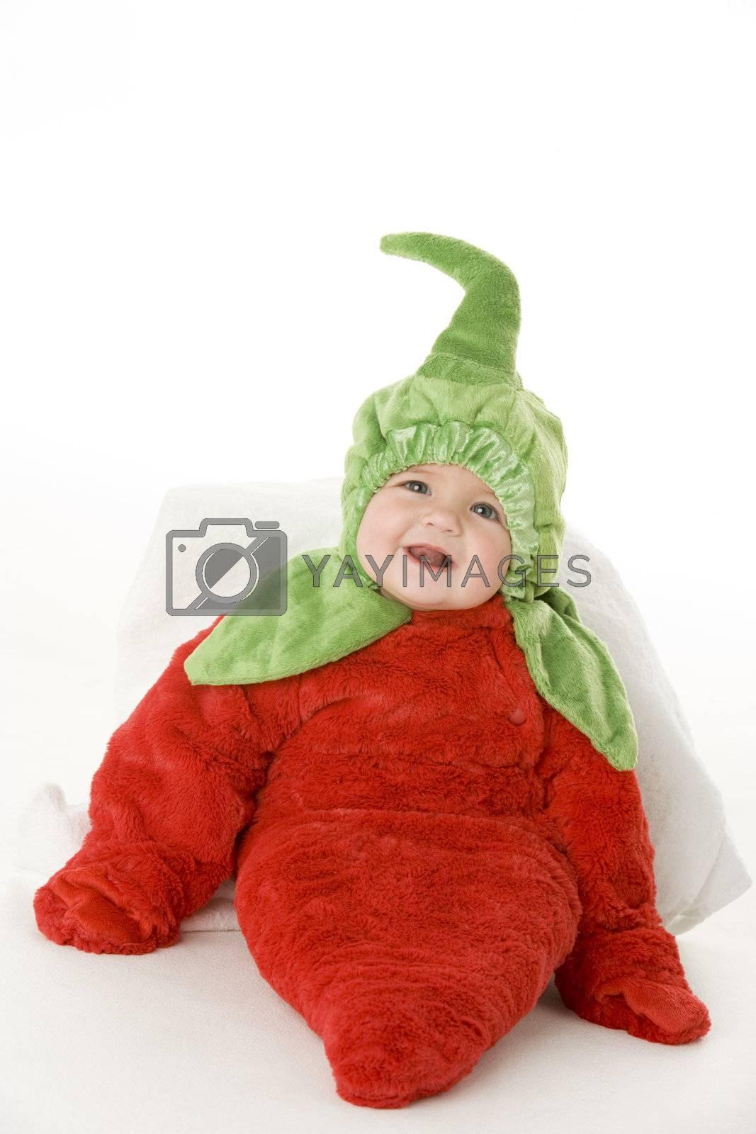 Baby in pepper costume