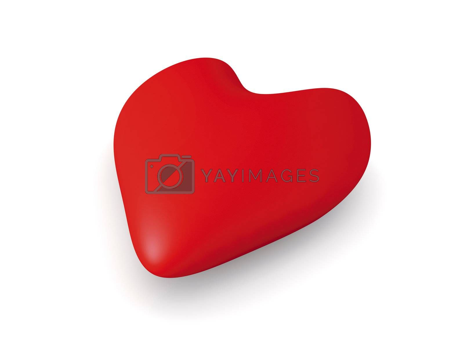 3D Illustration. 3D rendered Heart Shape.