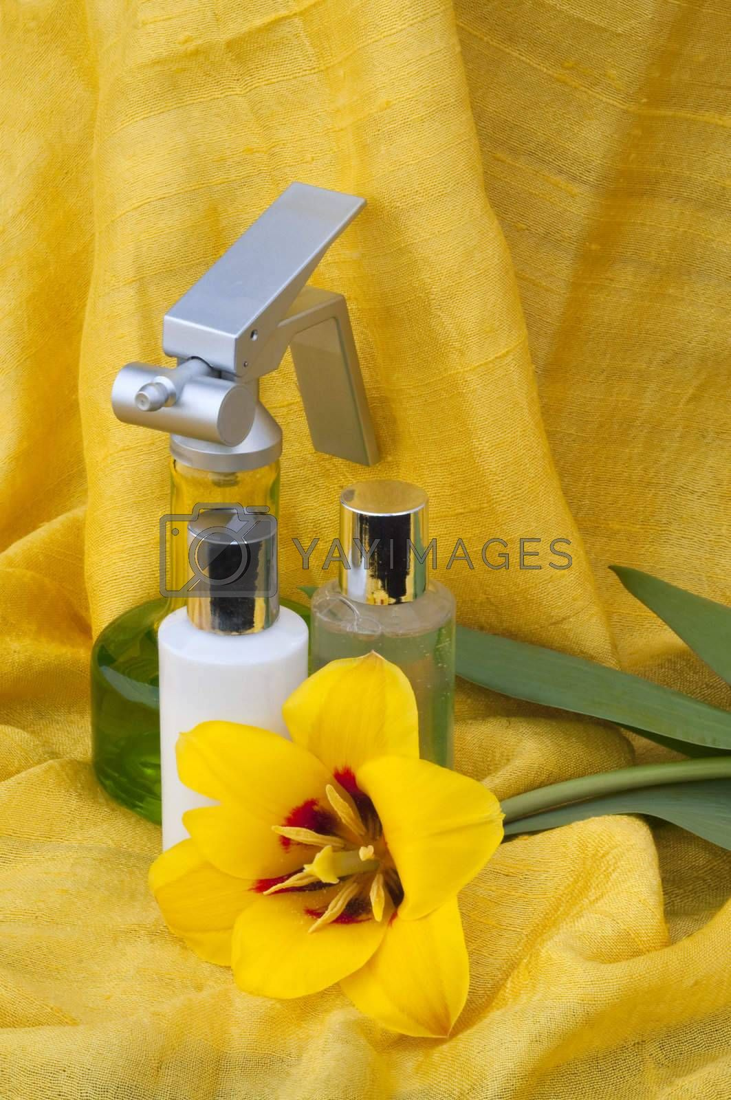 range of creams and accessories for personal care