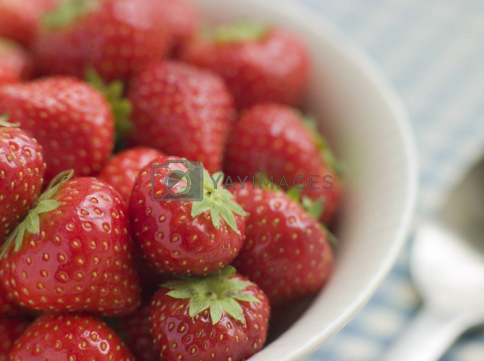 Bowl of English Strawberries by MonkeyBusiness
