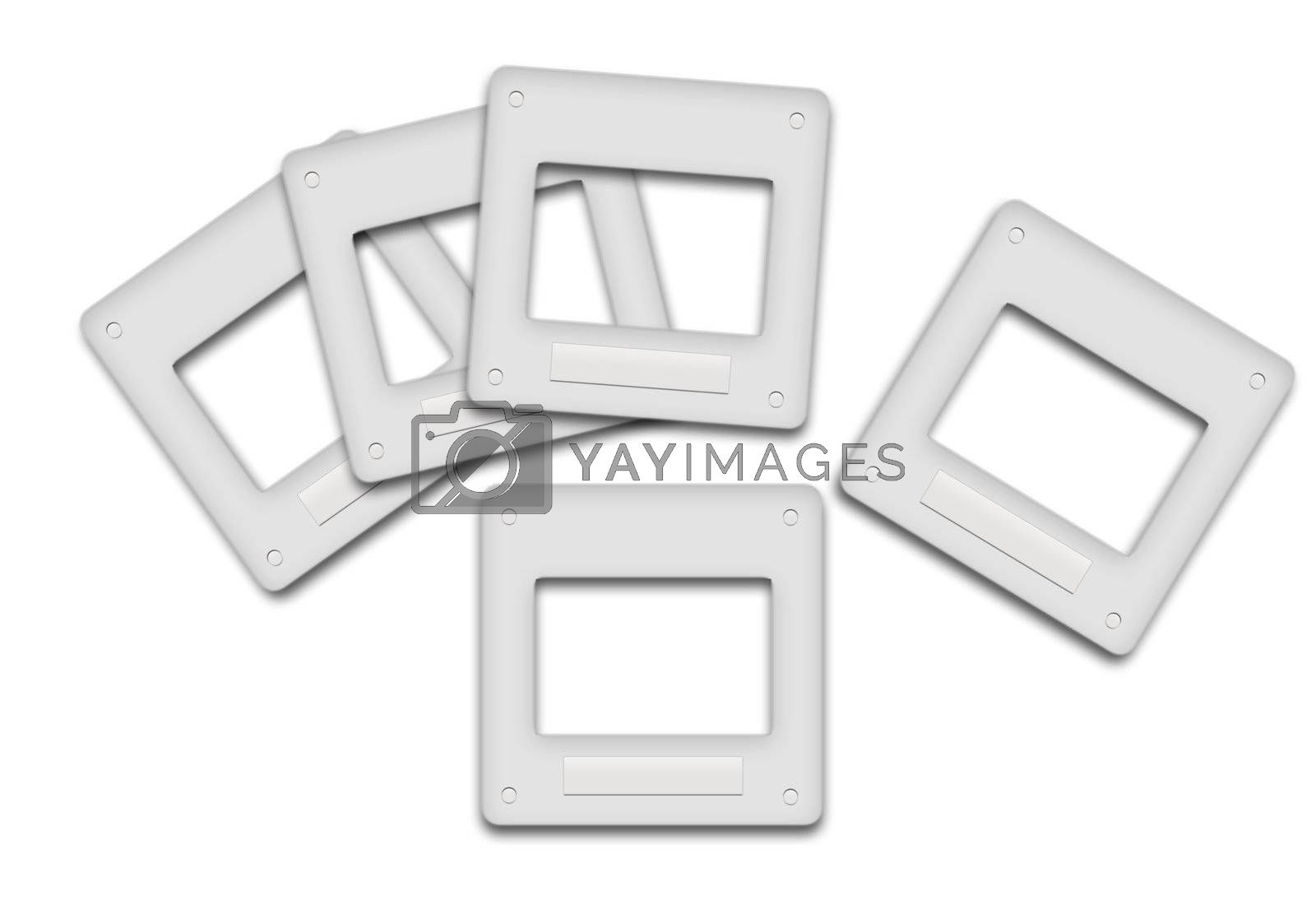 five slides that were placed differently on a white background