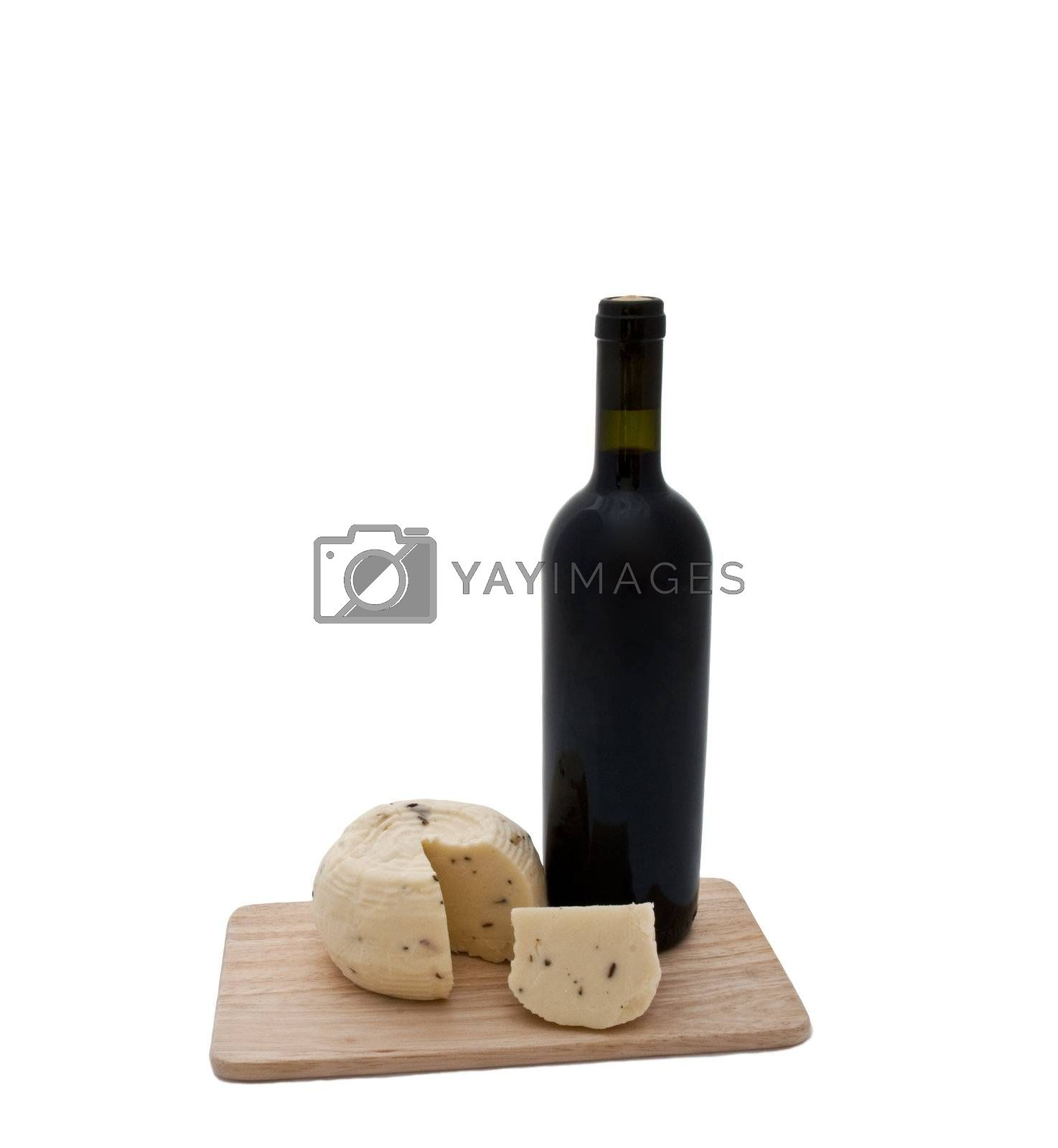 cheese and wine cheese and wine on a white background