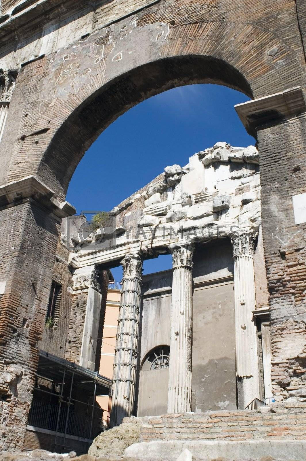 Royalty free image of arch on roman forum by Garry518
