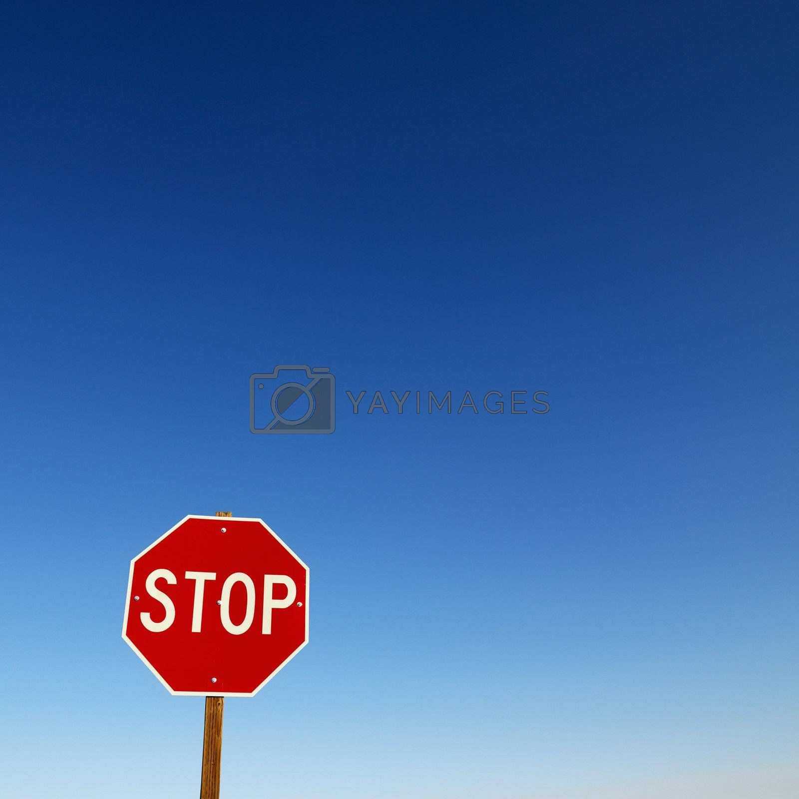 Stop sign. by iofoto
