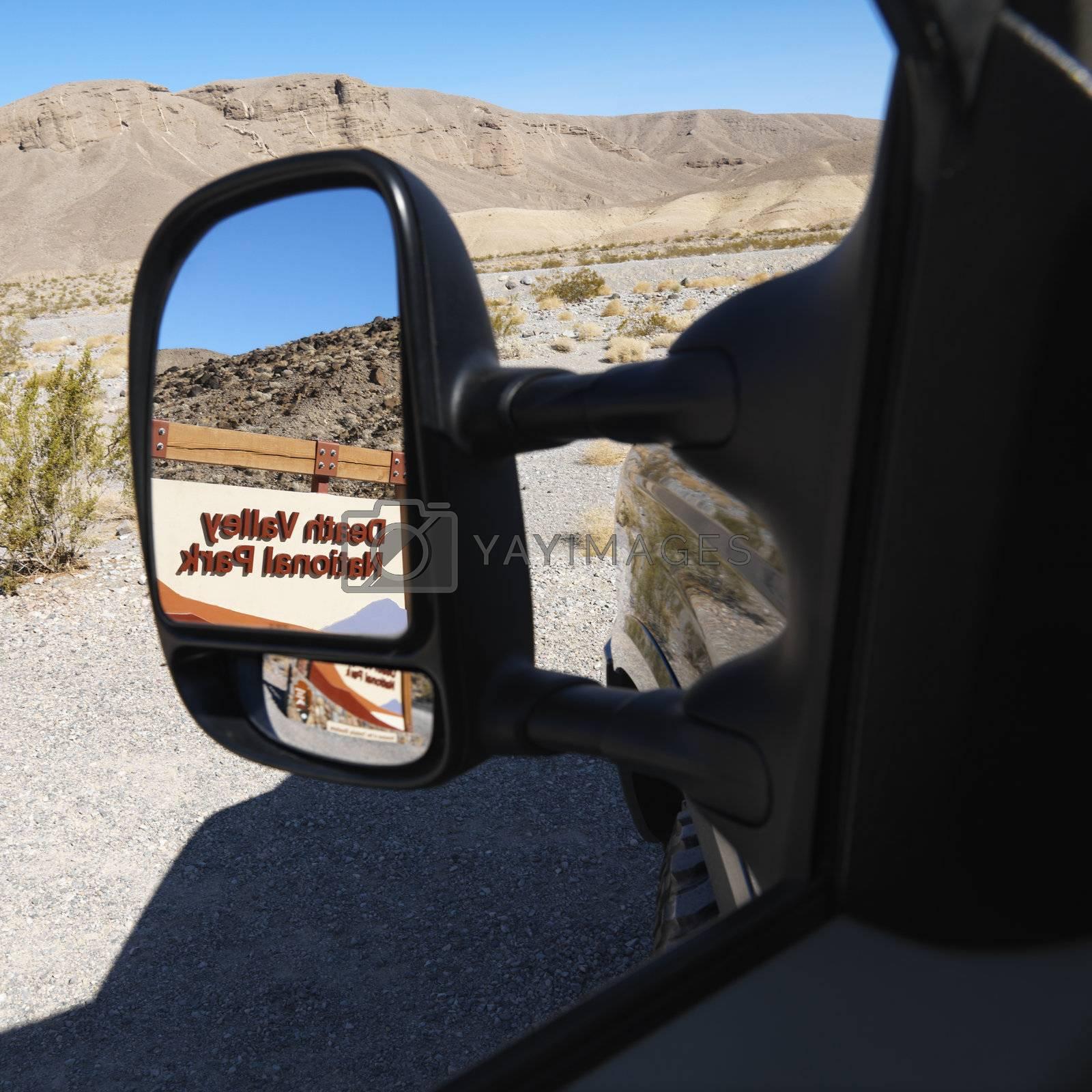 Death Valley in mirror by iofoto