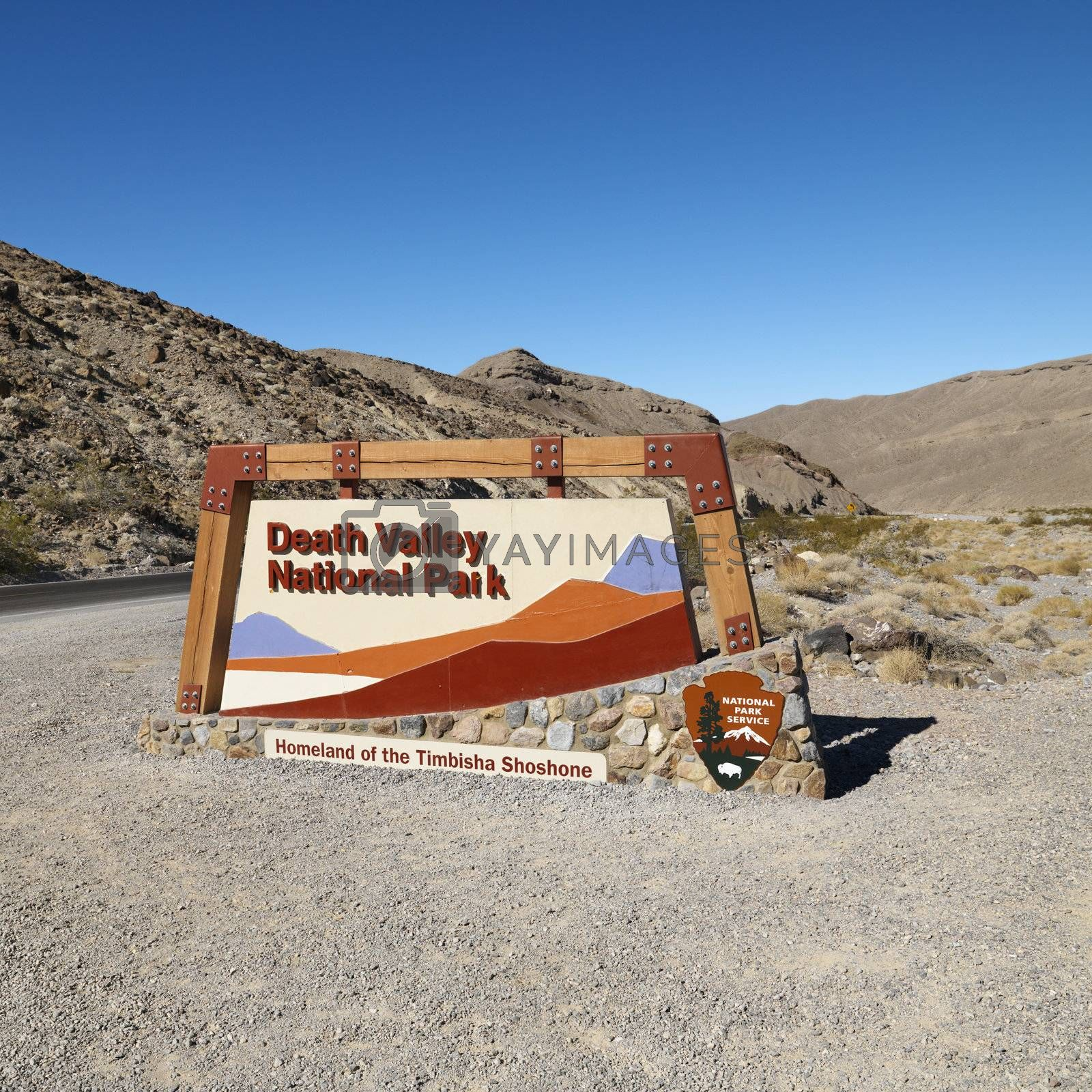 Death Valley Park sign. by iofoto