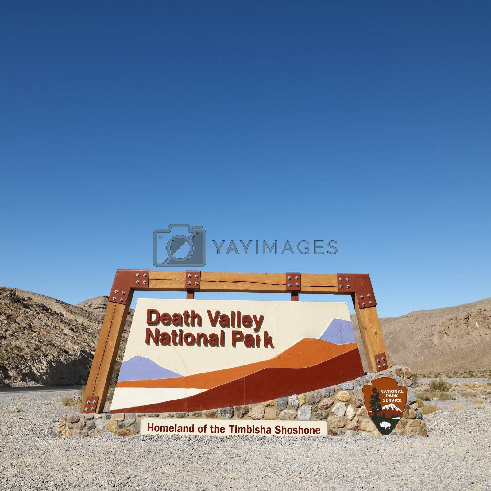 Death Valley entrance. by iofoto