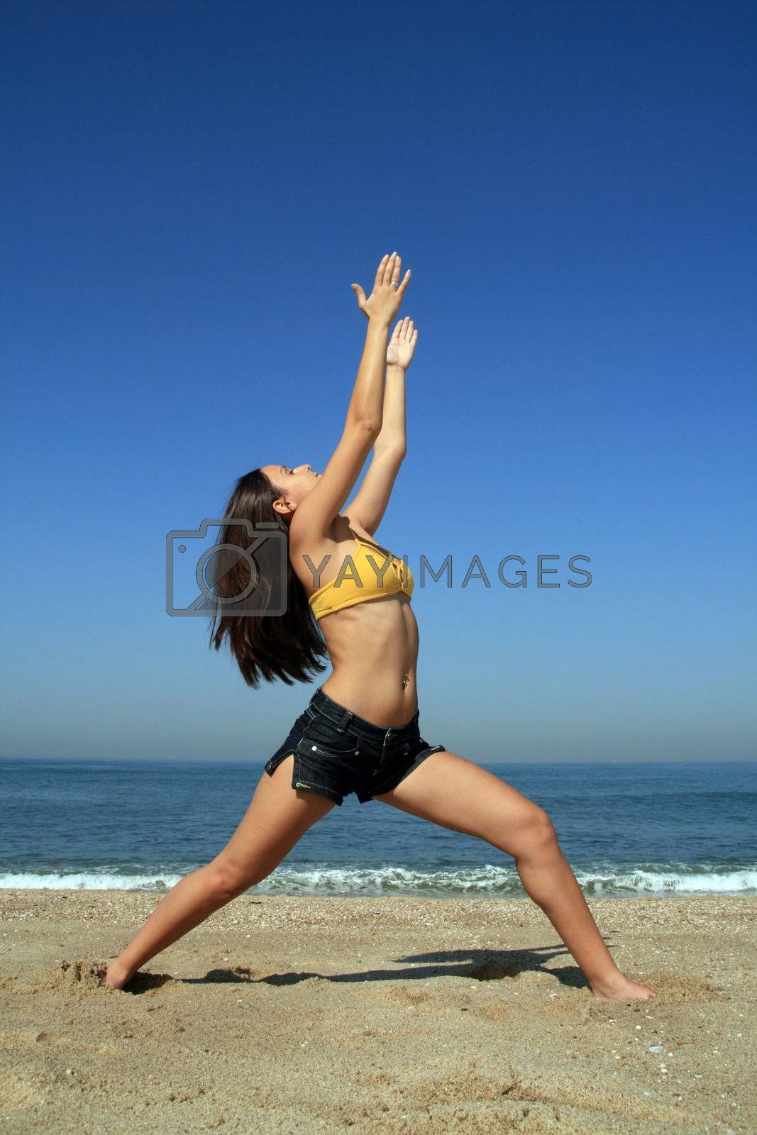 yoga on the coast and beach