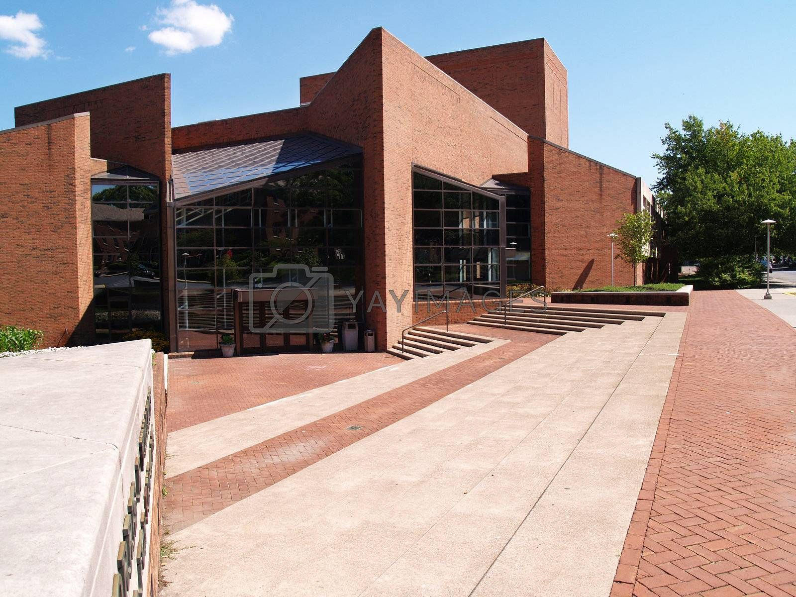Williams Center for the Arts building on the campus of Lafayette College in Easton, Pennsylvania.