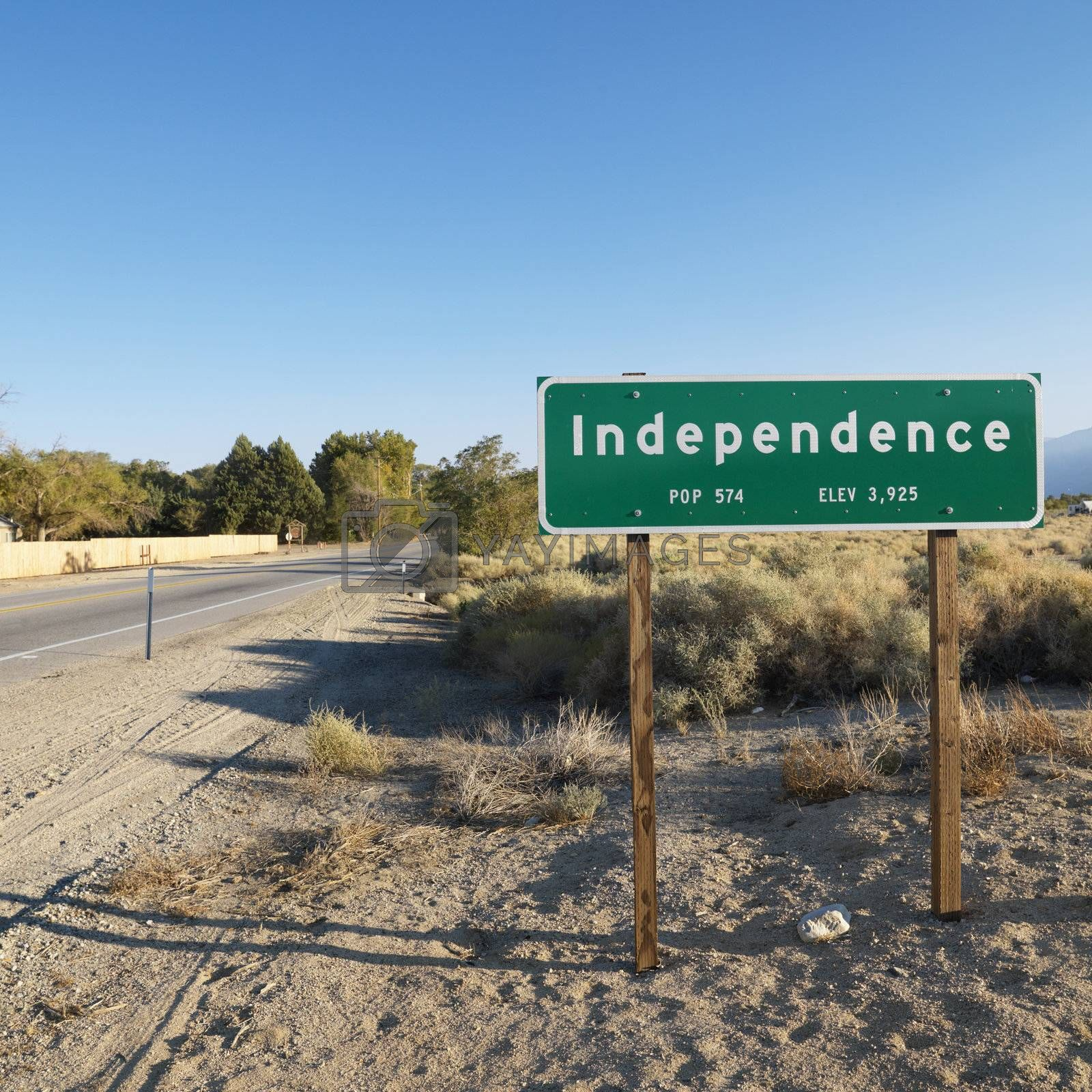 Independence town sign. by iofoto