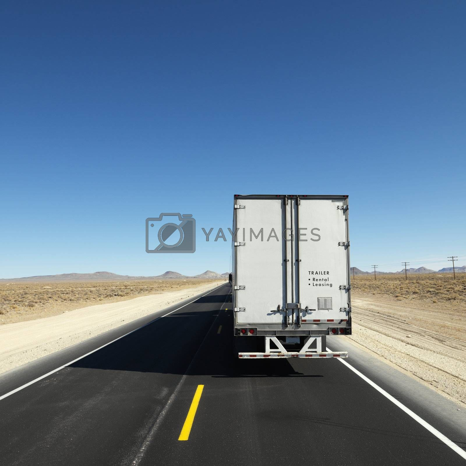 Truck on highway. by iofoto