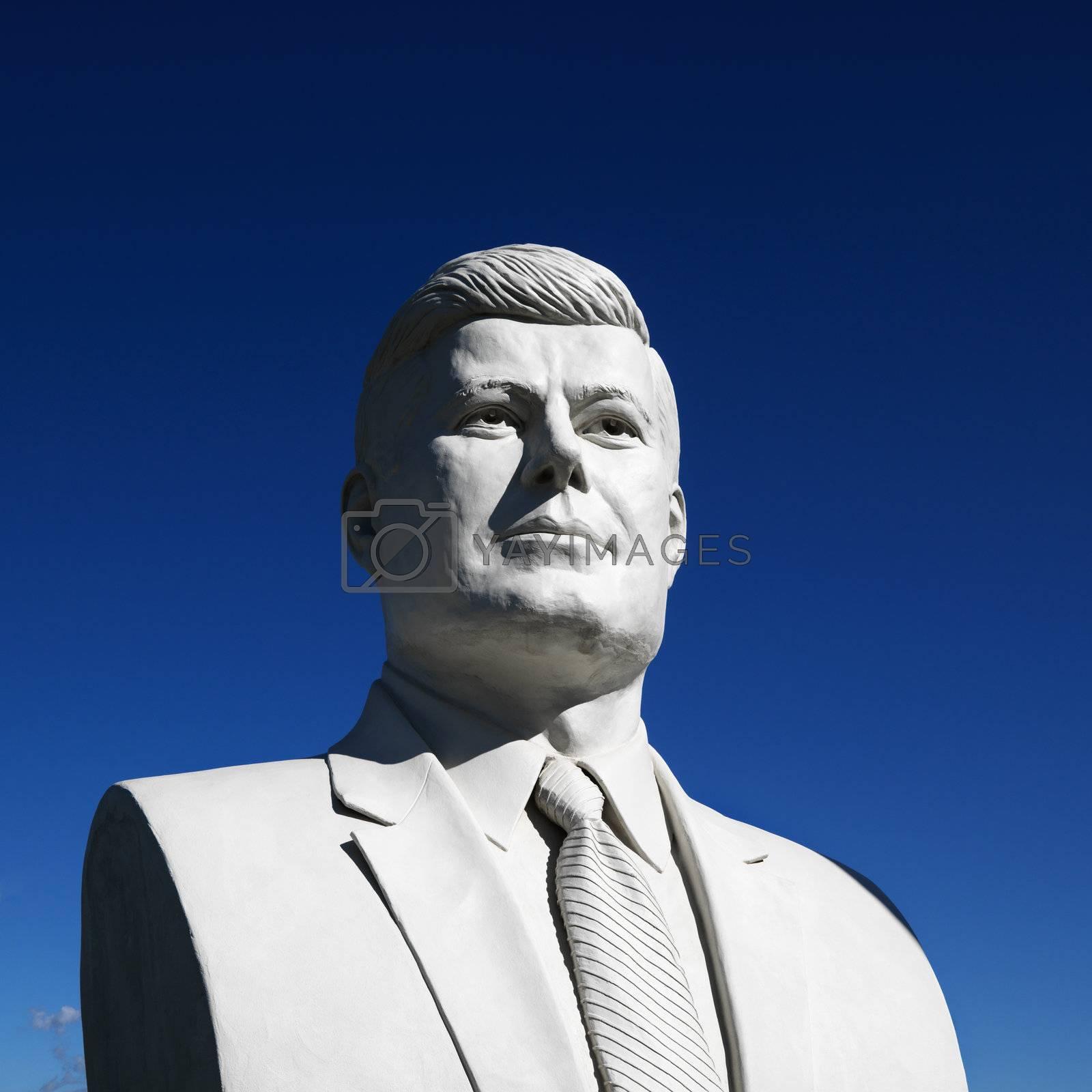 JFK sculpture. by iofoto