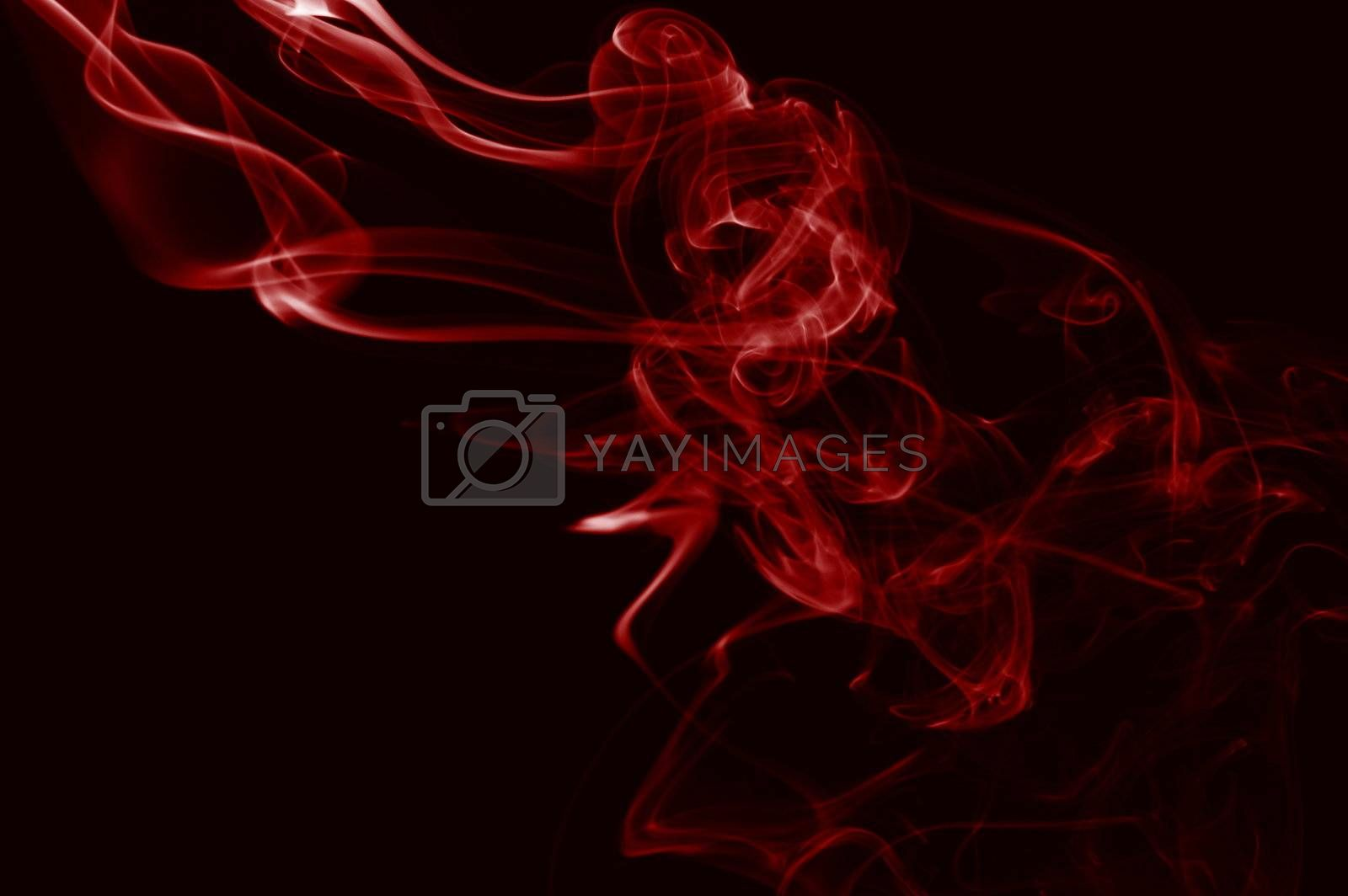 abstract smoke background with colorful smoke on black
