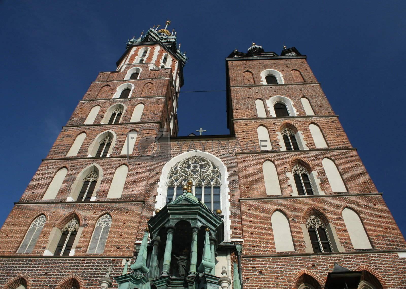 st. mary church, krakow, poland