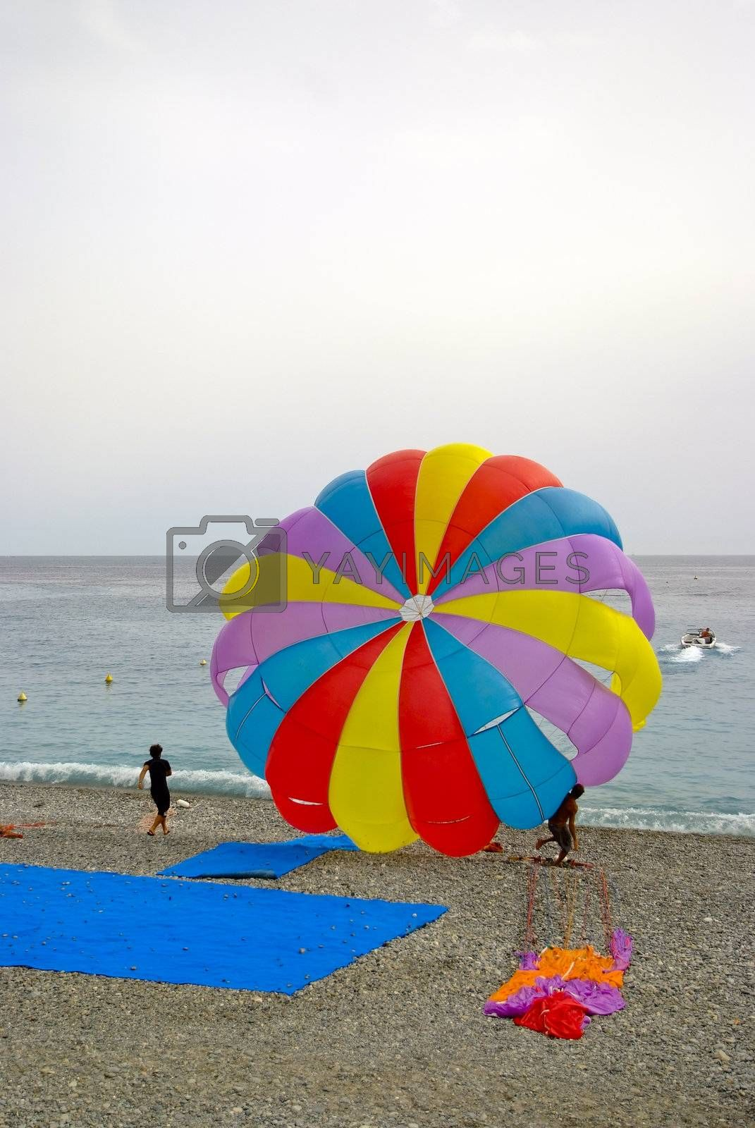 Sports activities at the mutual beach in Nice.
