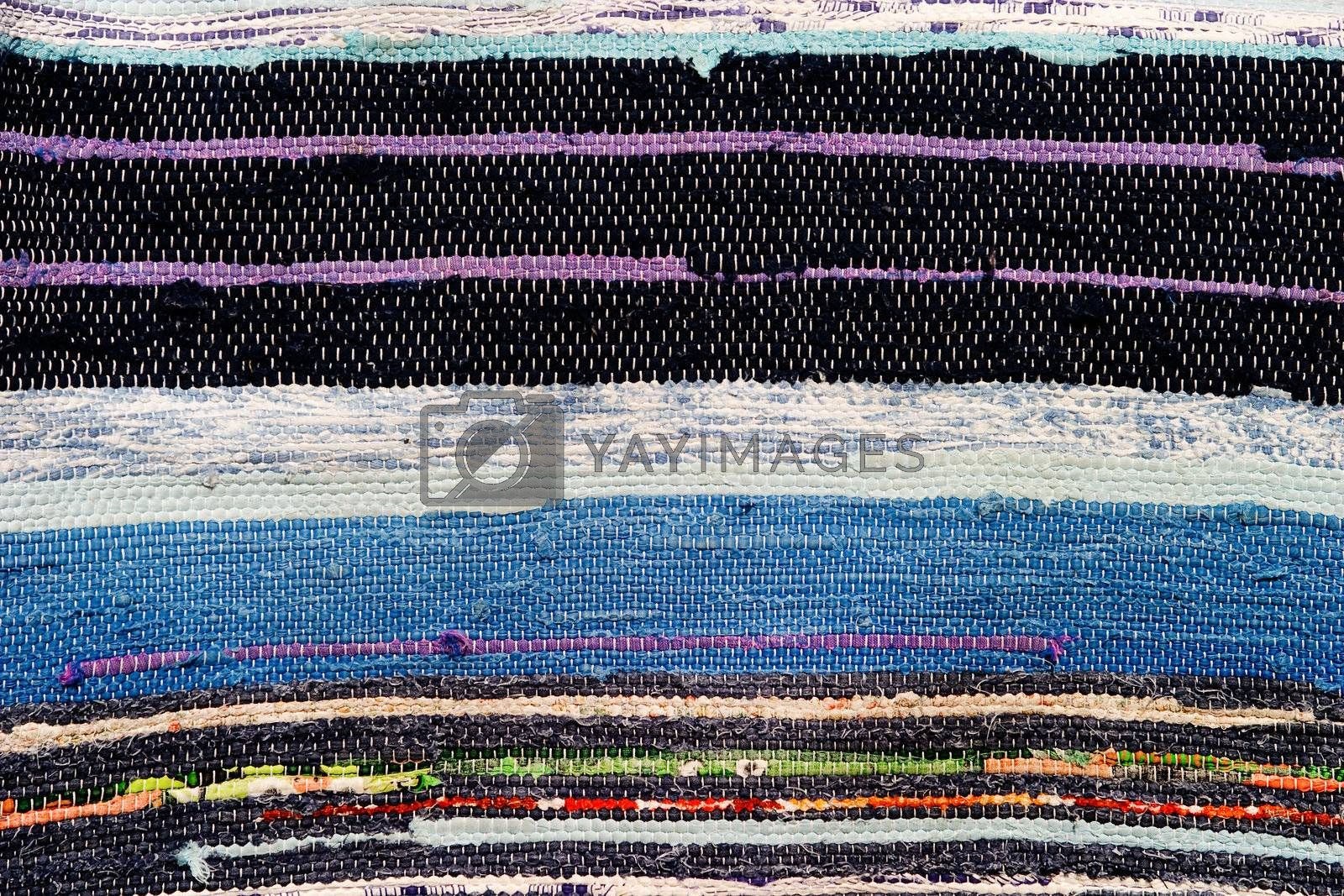 A hand woven rug background texture image
