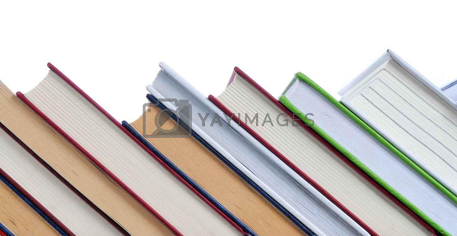 Books with white, empty space above