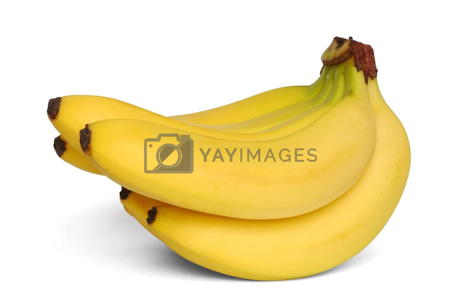 Isolated bananas