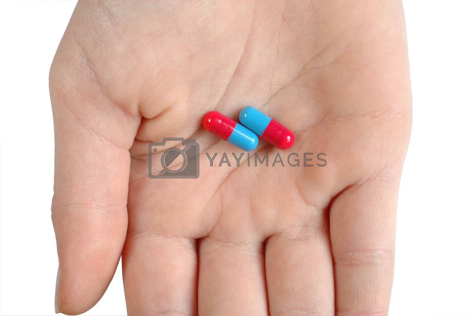 Hand and capsules