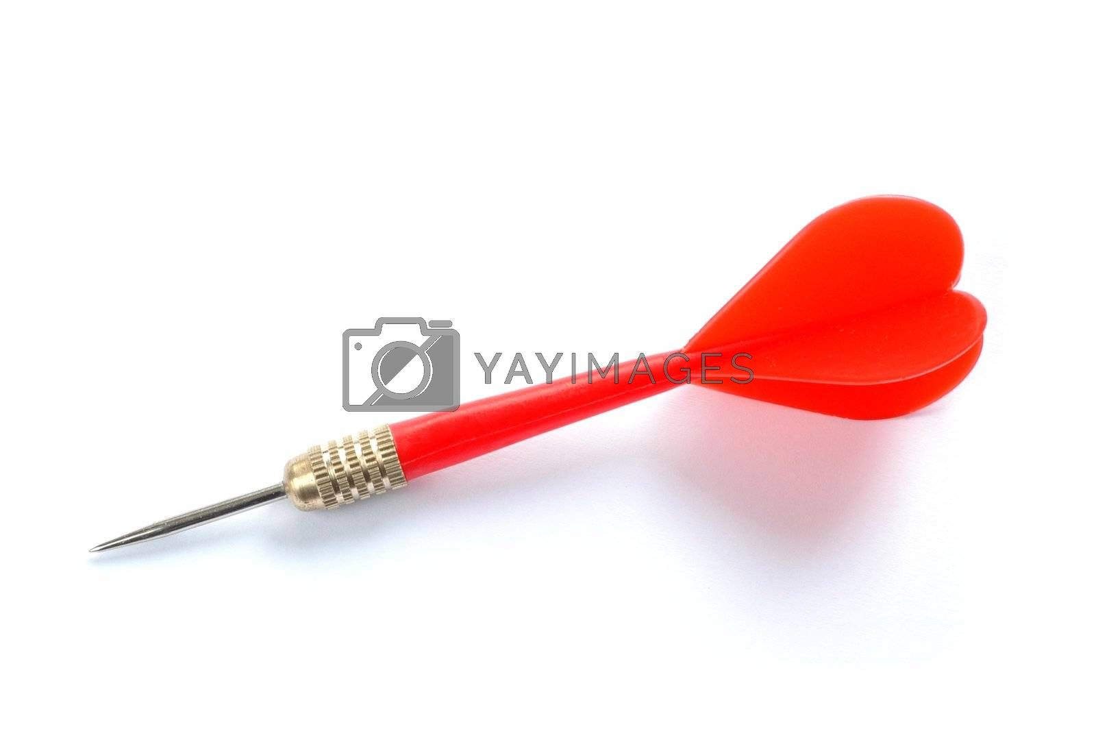 Isolated red dart