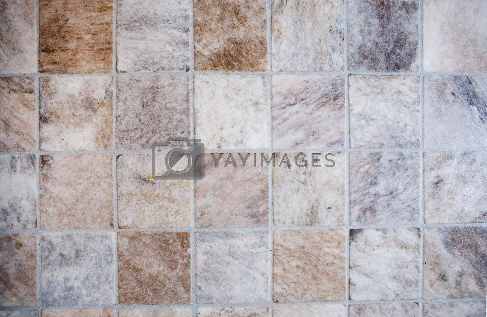 A very detailed image of a linoleum tile background