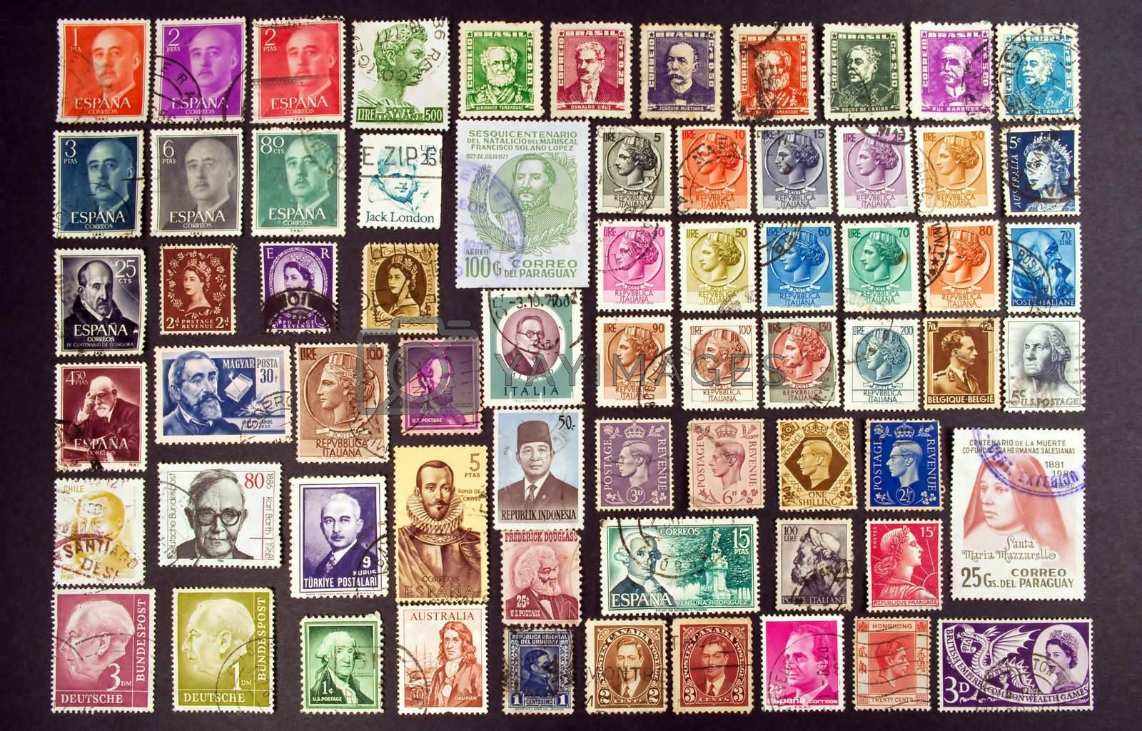 Royalty free image of Faces on stamps by FER737NG