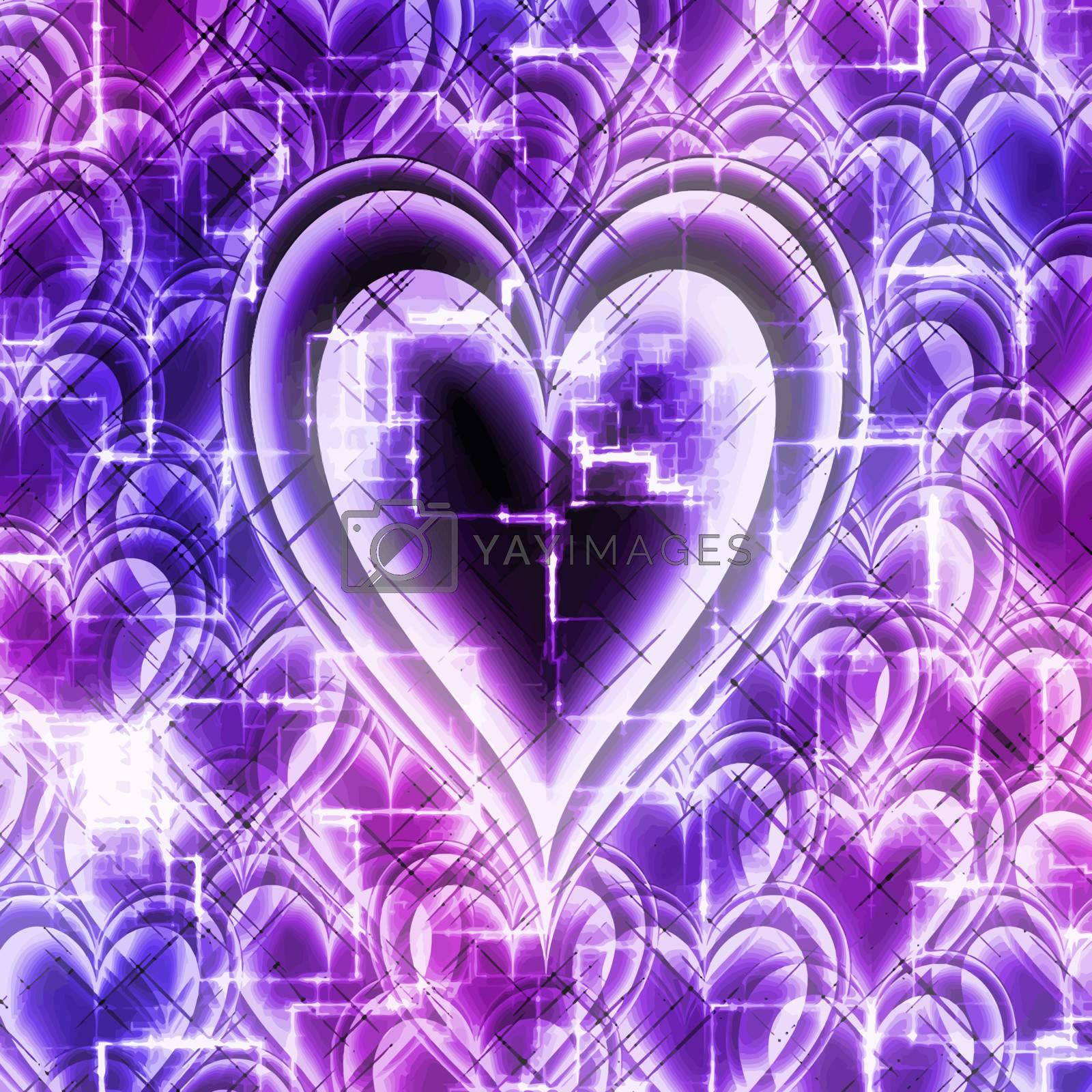 heart shape symbol in a high tech design