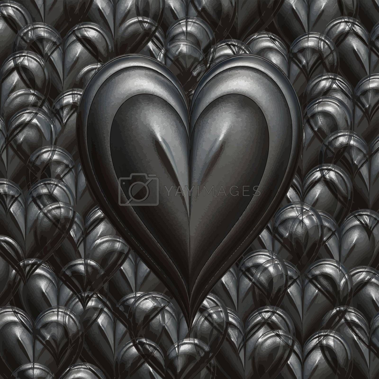 cast iron love heart to show how strong love ca be