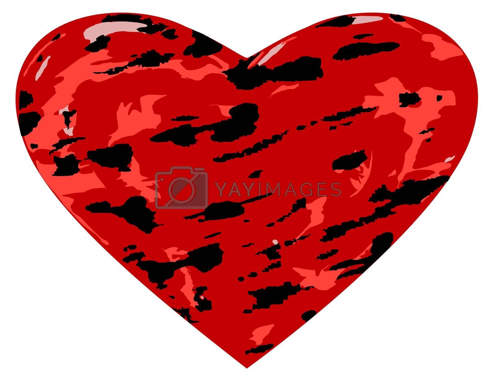 Grunge Heart by brigg
