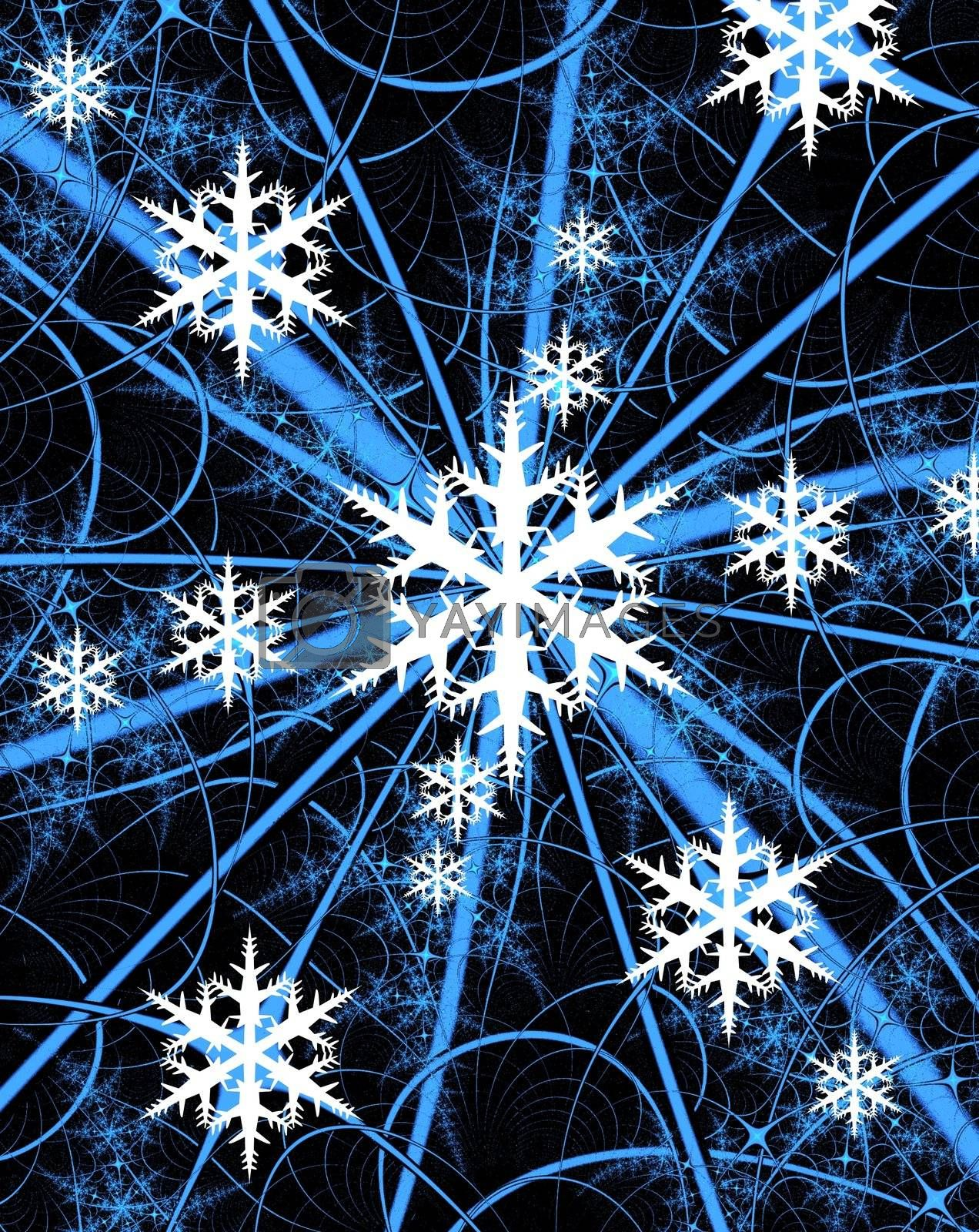 Christmas or winter background with snowflakes