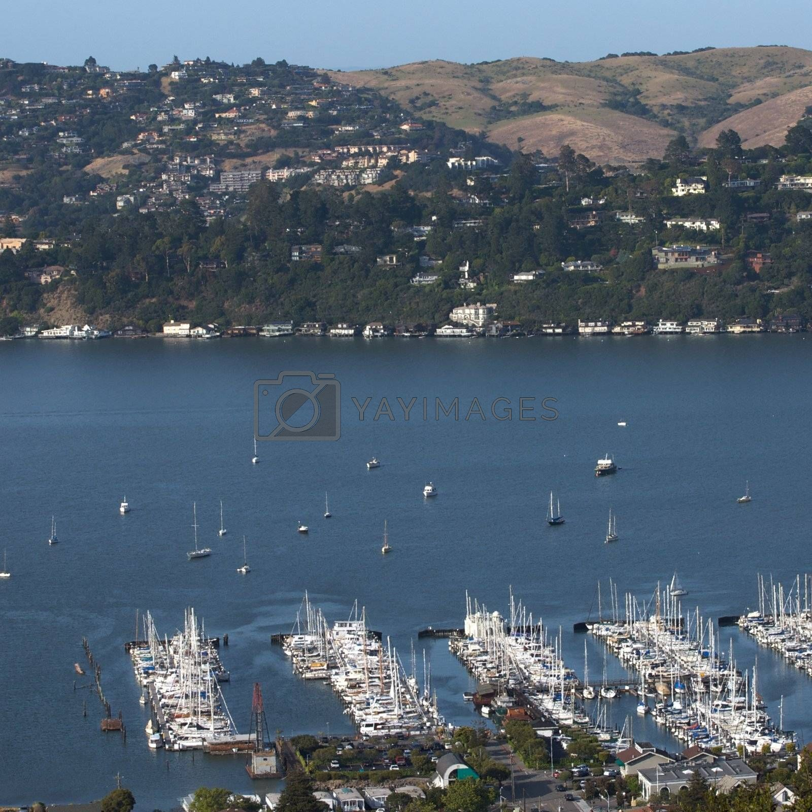 Sausalito, a town on San Francisco Bay in Marin County, USA by jedphoto
