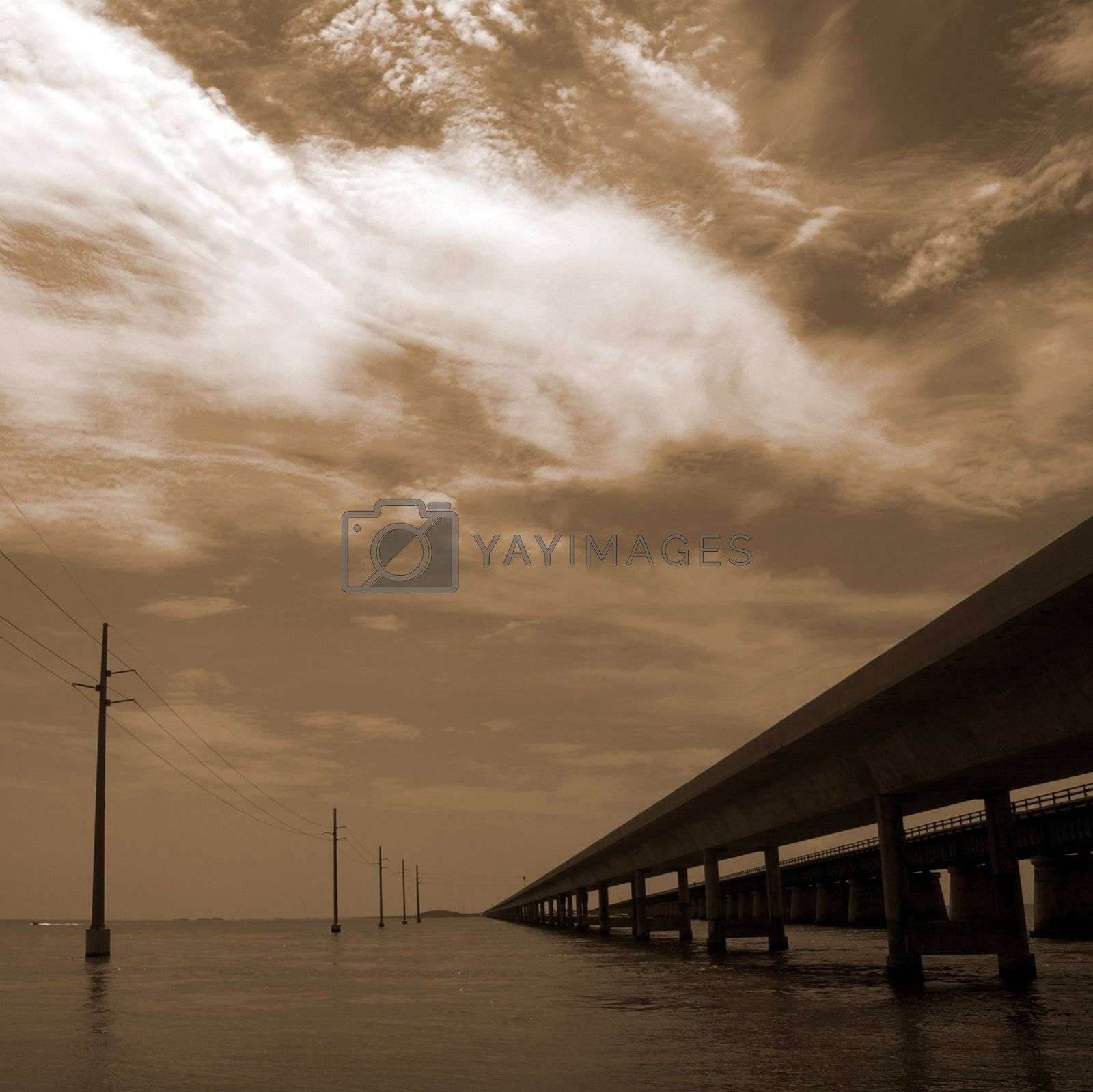 Seven Mile Bridge in the Florida Keys, Florida