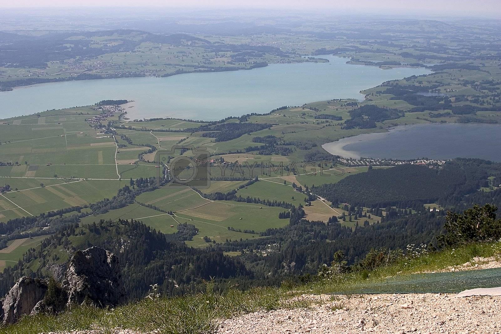 Beautiful pasture and mountains in Germany (( Allgäu ) Schöne Weide und Berge in Deutschland