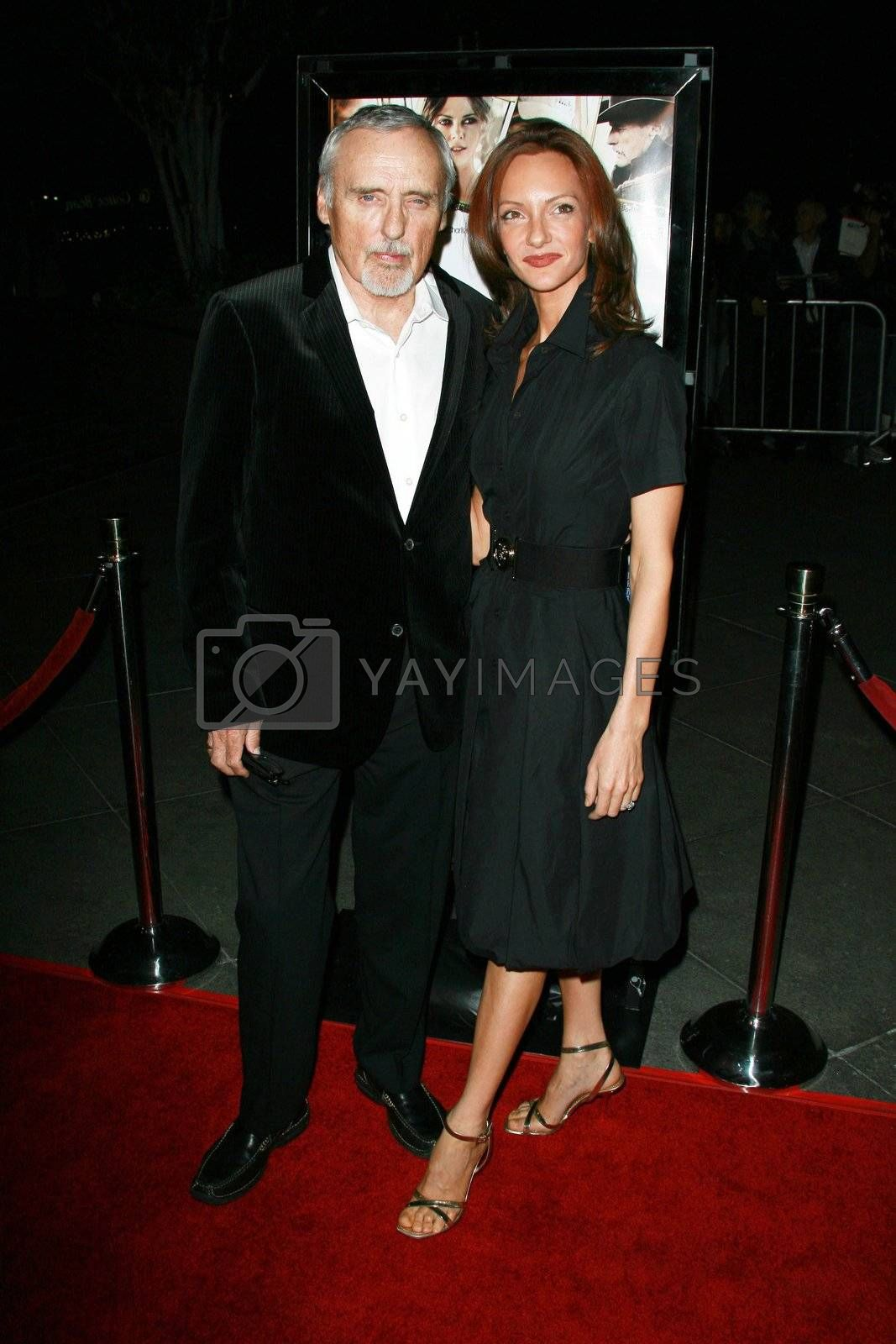 Dennis Hopper and wife Victoria   at the Sleepwalking Premiere held at the Directors Guild of America, Hollywood.