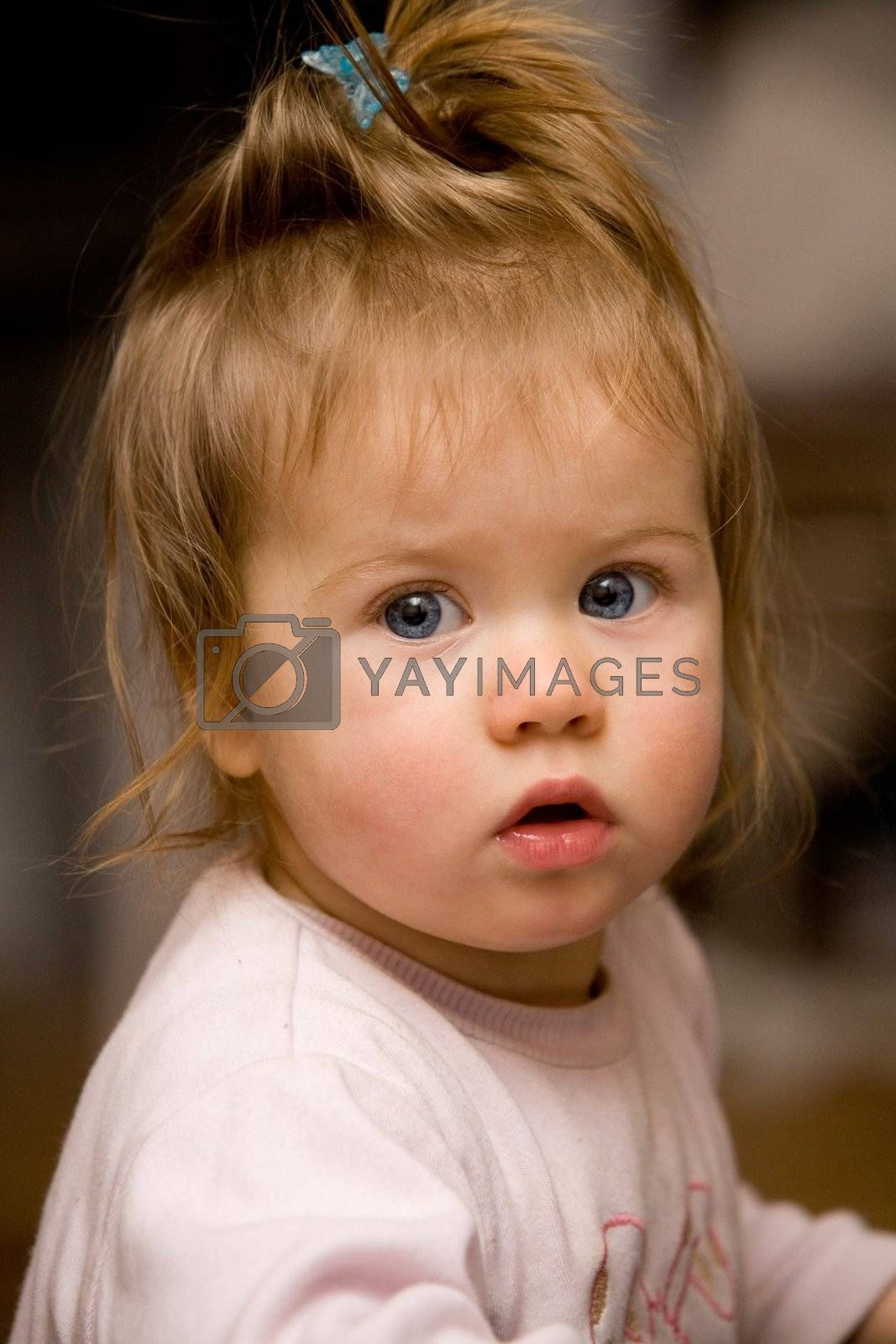 people series: little girl look in wide-eyed astonishment