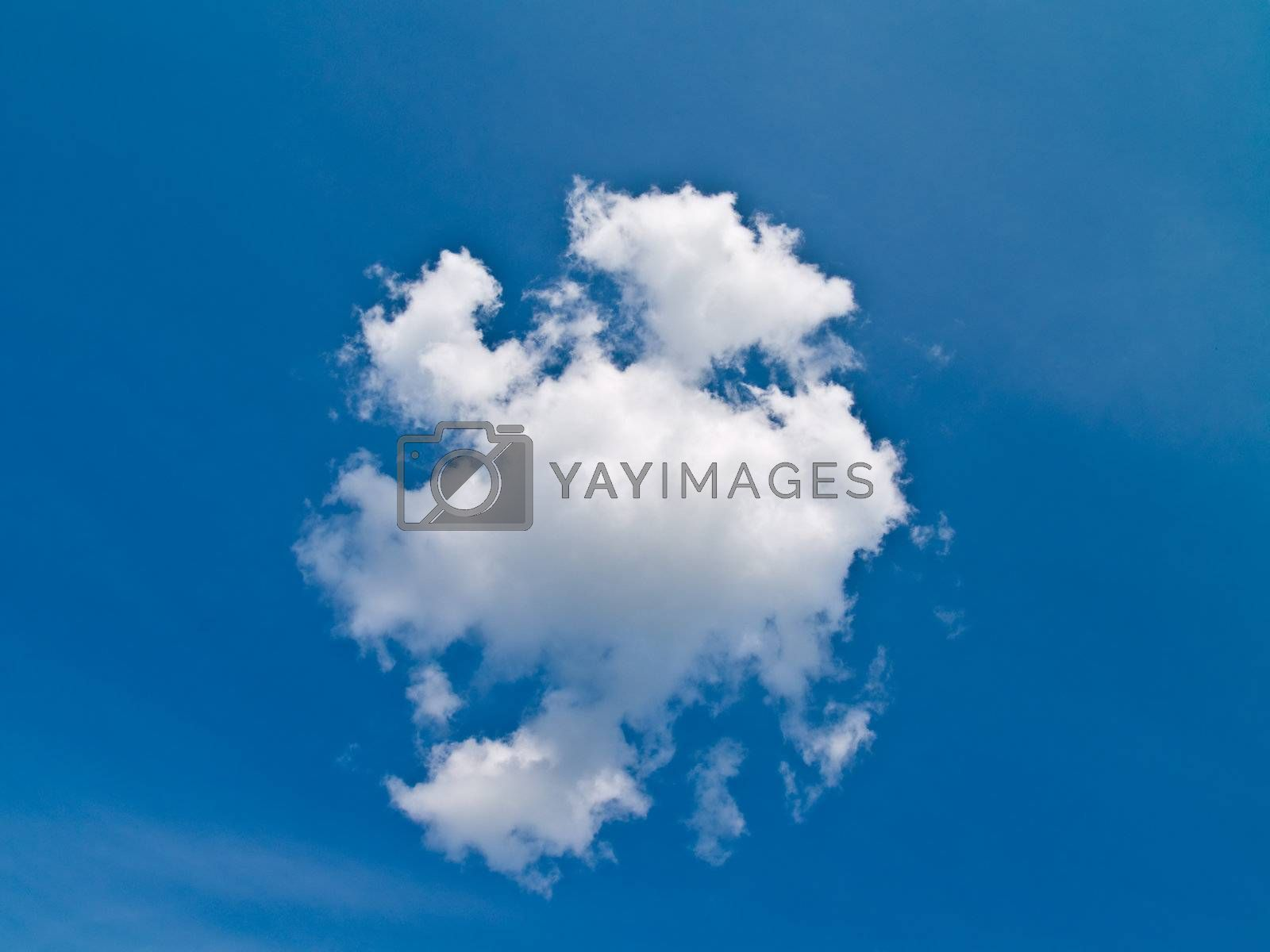 The blue sky and beautiful white cloud