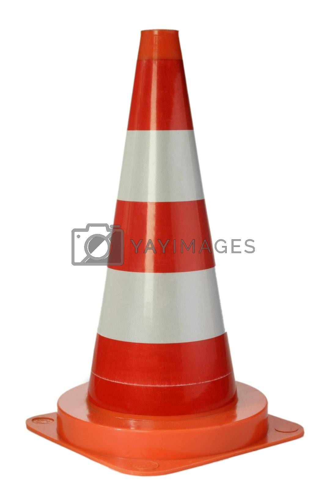 Danger cone isolated on white background