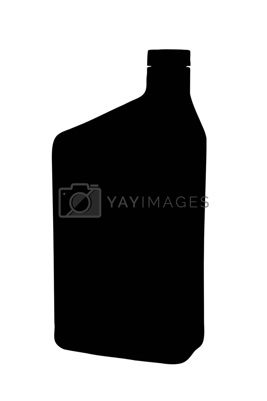An illustration of a oil container isolated on a white background.