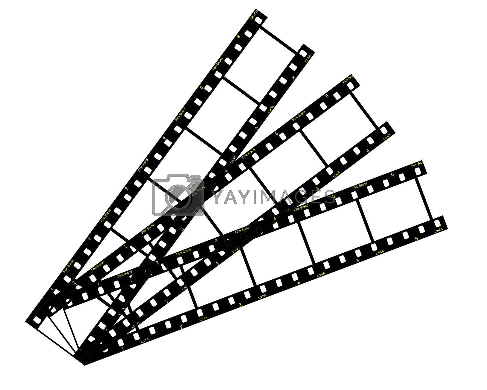 Filmstrip isolated on white background