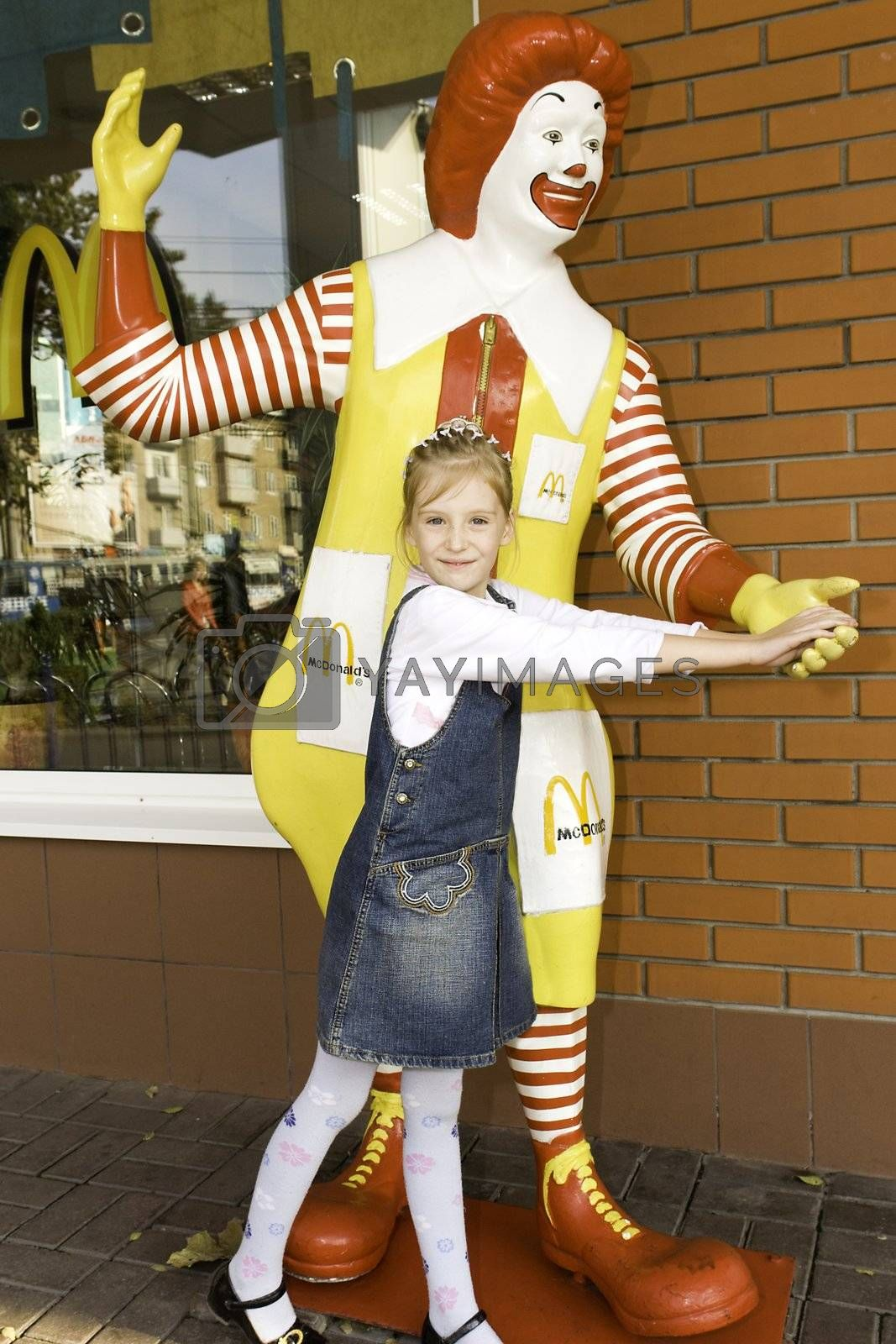 The child in a McDonalds