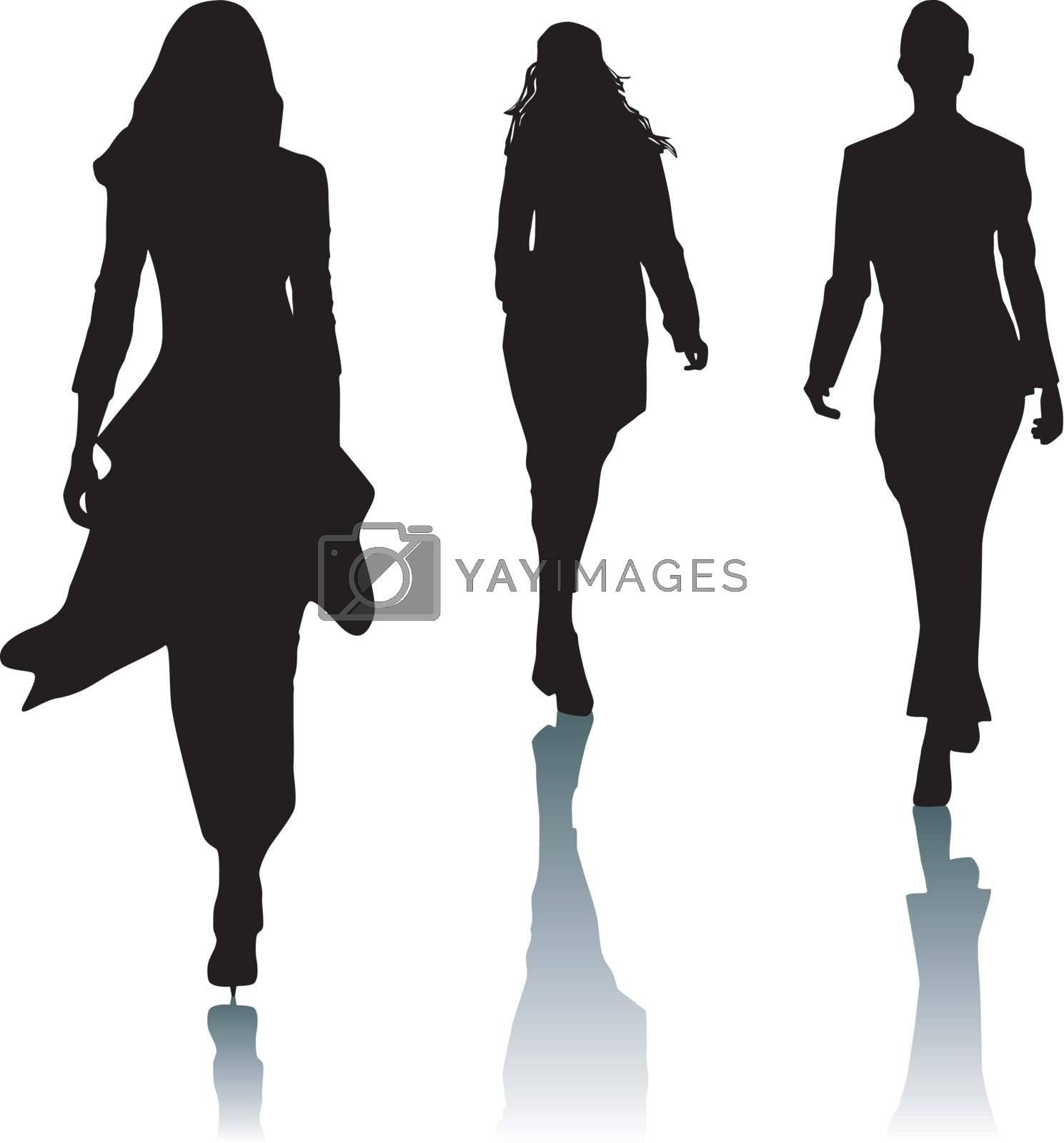 Silhouette fashion women