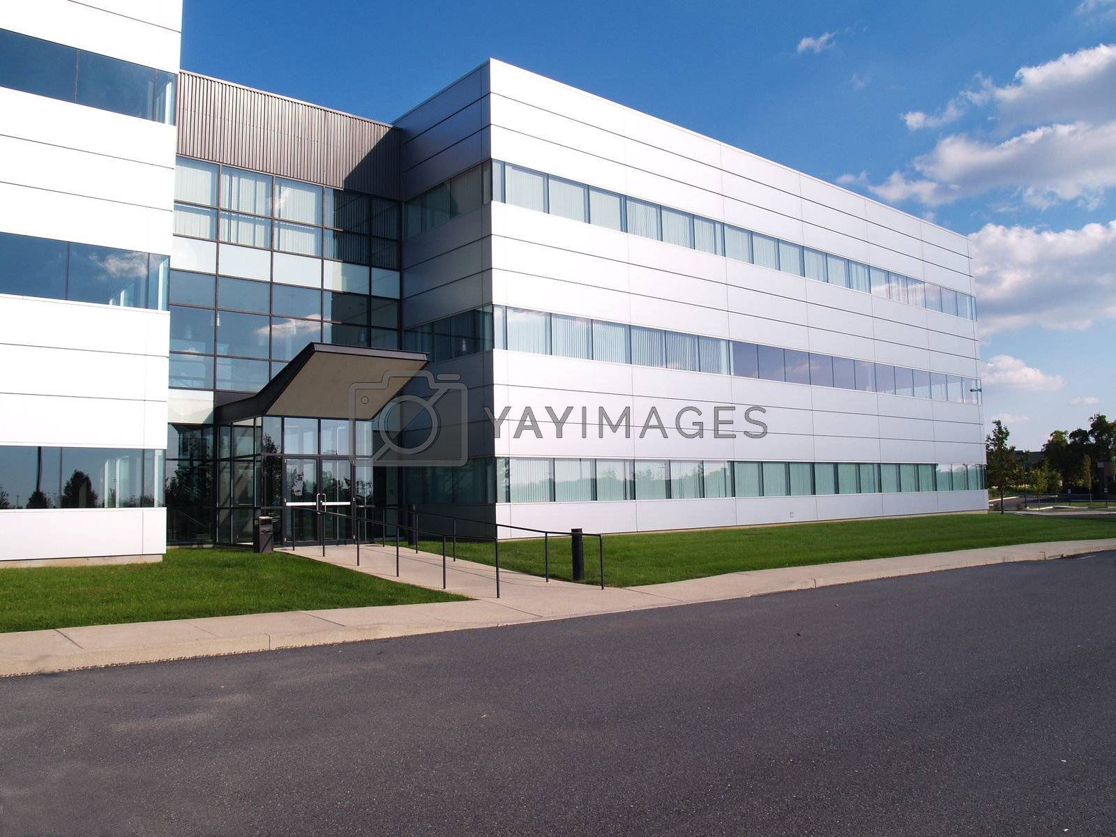 exterior of a modern industrial building