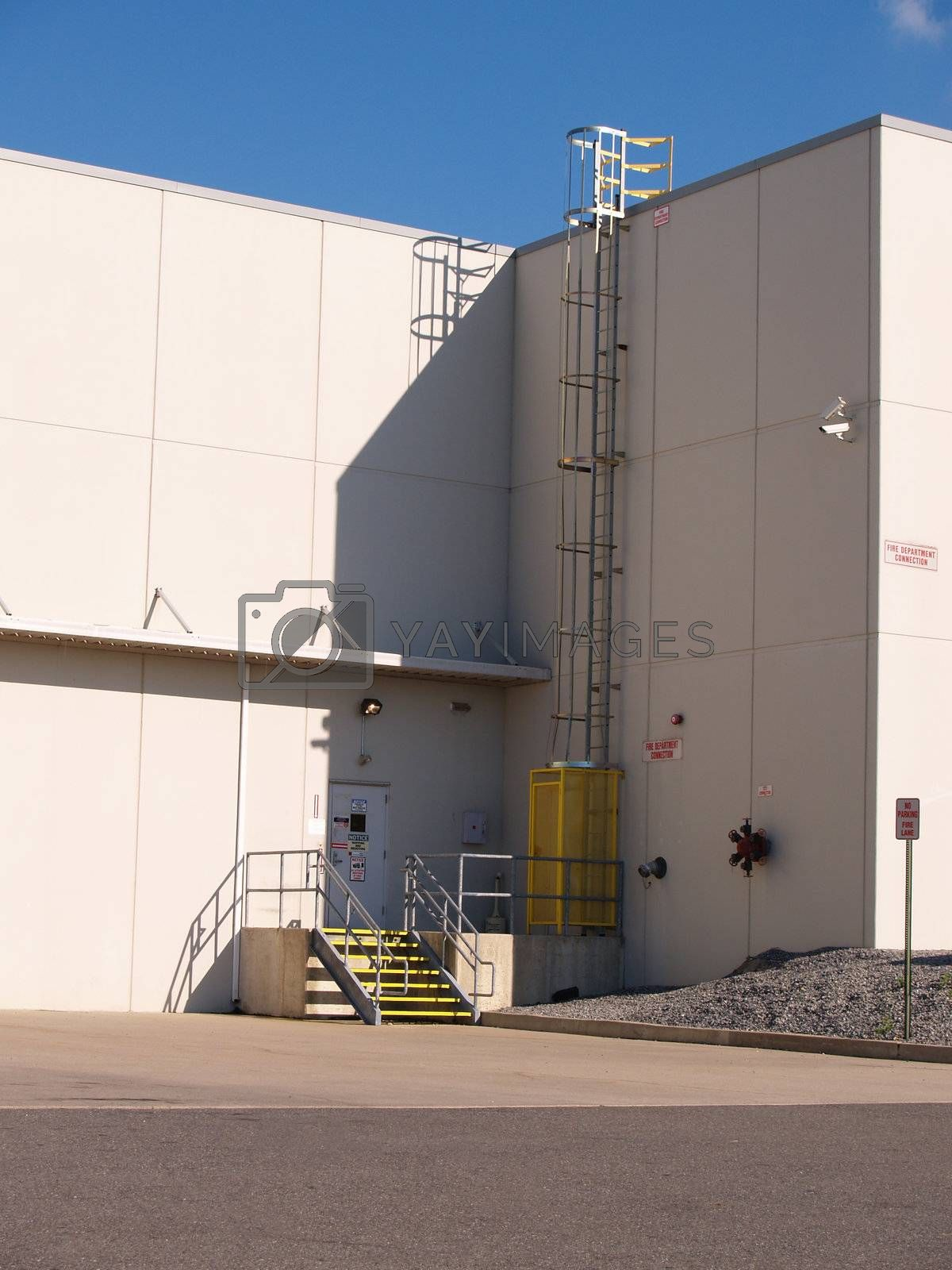 exterior entrance for an industrial warehouse